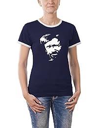 Touchlines Damen Chuck Norris Girlie Ringer T-Shirt B9042