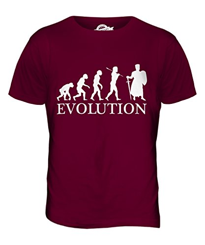 CandyMix Crociate Cavaliere Evoluzione Umana T-Shirt da Uomo Maglietta Bordeaux