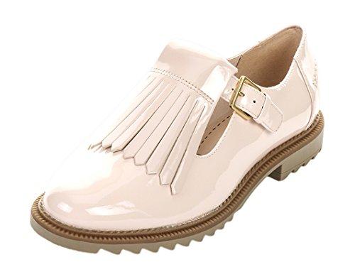 scarpe-casual-clarks-griffin-mia-donna-5-d-m-uk-38-eu-brevetto-di-rosa-nudo