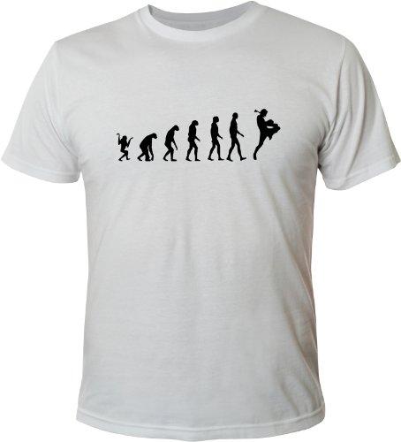 Mister Merchandise T-Shirt Evolution Muay Thai Boxen Boxing - Uomo Maglietta Bianco
