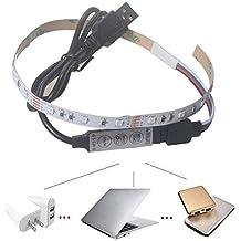 YAPOO USB 5V 2835 12SMD 20CM RGB Tira de luz LED para Exteriores Jardín de Navidad