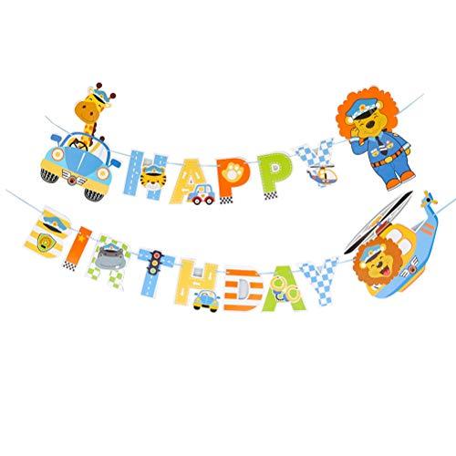 Auto Bunting Banner Alles Gute zum Geburtstag Girlande Banner Baby Birthday Party Supplies Dekoration Party Pull Flag ()