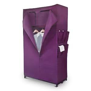 Relaxdays armoire pliante armoire en tissu non tissé avec étagère et 6 poches 88 x 156 x 45 cm
