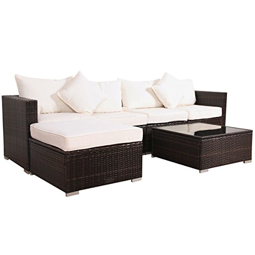 Svita California-Plus POLY-RATTAN Lounge Gartenset Sofa-Set Garnitur mit Aluminium-Rahmen Gartenmöbel Couch-Set (XL)