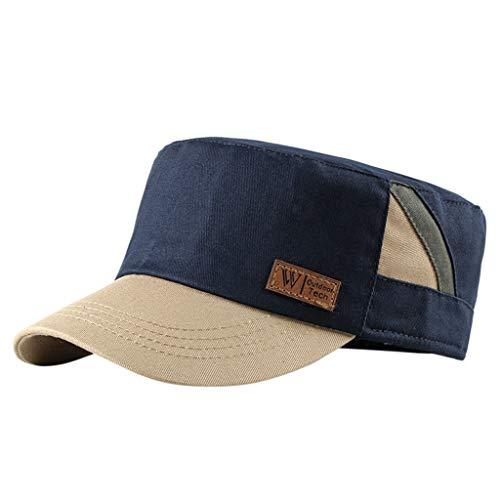 LSAltd Feste Krempe Flat Top Cadet Caps verstellbare Korps Vintage Flat Top Hüte