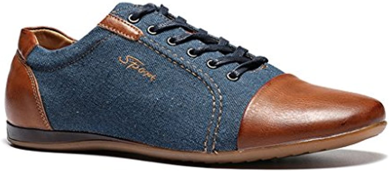 Beauqueen Zapatos De Trekking Ocasionales para Hombres Zapatos De Cuero para Exteriores Deportivos (tamaño : 42)