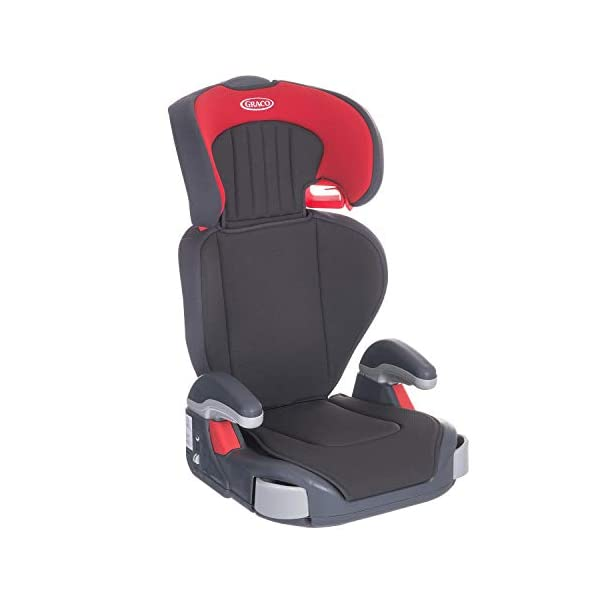 Graco Junior Maxi Lightweight Highback Booster Car Seat, Group 2/3, Pompeian Red Graco For children 15 to 36 kg (approx. 4 to 12 years) Convenient one-hand adjustable headrest Height-adjustable armrests for comfort 2