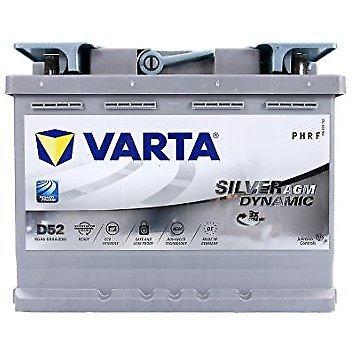 Batterie Varta D52 AGM sil-dyn-agm 12 V 60 aH dimensions : 242 x 175 x 190 B13