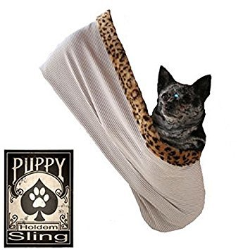 Pet Halle 500-072tcsmmd Totenkopf mit Rose Strass Puppy Holdem Sling Tan mit Cheetah Schnitt, klein/mittel Strass Cheetah