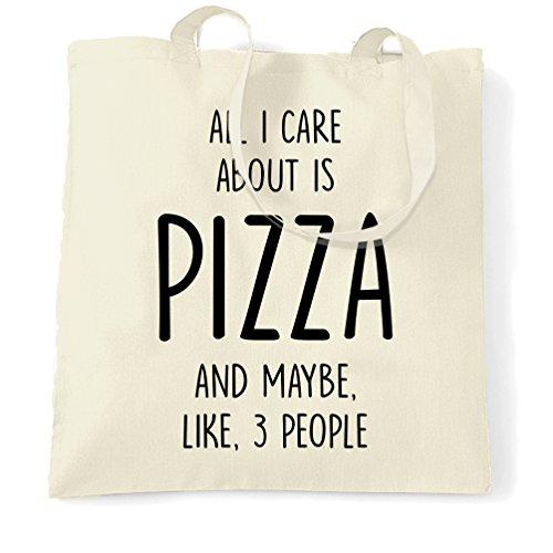 Divertente Sacchetto Di Tote Tutti mi interessa è Pizza e, come 3 persone cool divertente Natural