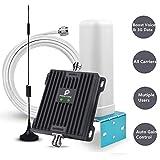 AMPLIFICATORE DI SEGNALE 3G,900/2100MHz per Casa/Ufficio-GSM 2G/3G Signal Booster Ripetitore con Antenna del Cellulare per TIM VADAFONE TRE WIND