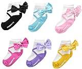 Ballerina Bow Trumpette 12 - 24 months Toddler Socks 6 Pairs