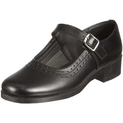 Toughees Junior Pearl Black School Shoe, Black, 9 UK Child (27 Child EU)