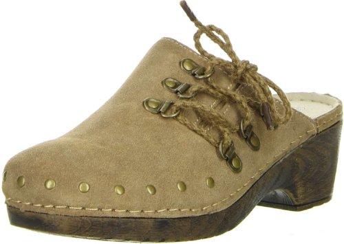 Bergheimer Trachtenschuhe Damen Clogs beige, Größe:38;Farbe:Beige