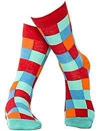 Rot karierte Socken aus hochwertiger, langstapliger Bio Baumwolle, GOTS zertifziert