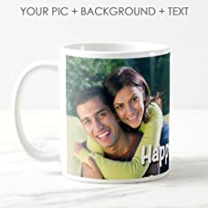 exciting Lives Personalised Photo Ceramic 325ml Coffee Mug(White)