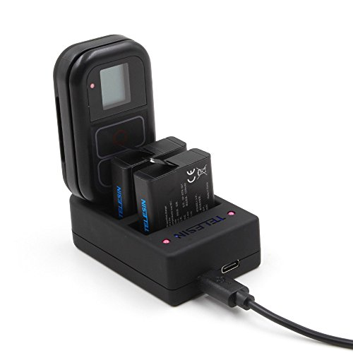 AuyKoo Universel 3 Canal USB 3 Emplacements Chargeur de Batterie + WiFi Télécommande pour GoPro Hero7 Black Hero6 Hero5 Hero 4