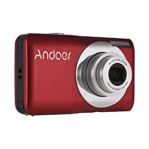 Andoer 16MP 720P HD Digital Camera Video Camcorder with 2pcs Rechargeable Batteries 8X Optical & 4X Digital Zoom Anti-shake 2.7inch LCD Screen Kids