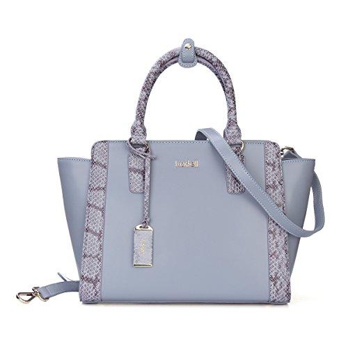 Kadell Frauen Trapez Tasche Designer Geldbörse Handtasche Top-Griff Kreuz Geld börse Tote Hellblau (Leder-geldbörse Mit Kreuz)