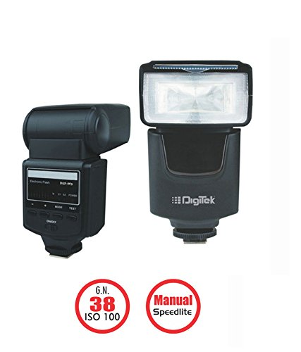 Digitek Camera Flash Speed light Nikon/Canon GN 38 ISO 100 DFL-003