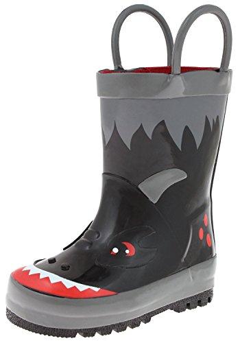 Capelli New York Toddler Boys Shiny Camo Printed Rubber Rain Boot Handles