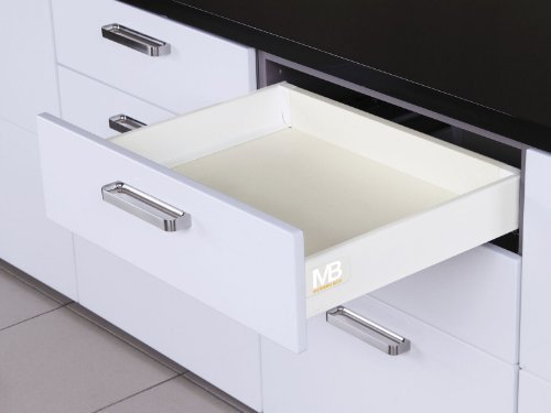 Schubkasten (SO-TECH® Schubkastensystem weiß Höhe: 84 mm Tiefe: 500 mm Schublade Schubkasten)