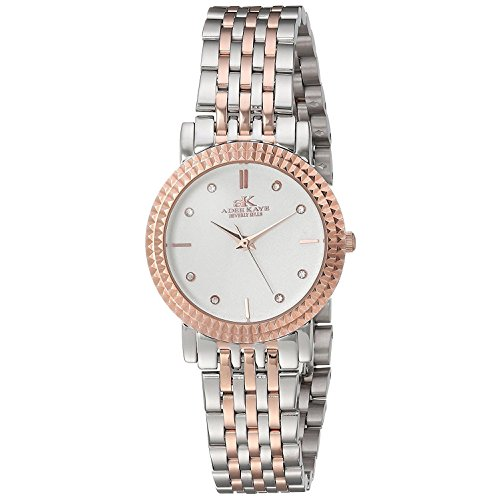 ADEE KAYE WOMEN'S 28MM STEEL BRACELET & CASE QUARTZ ANALOG WATCH AK4801-LTTRG