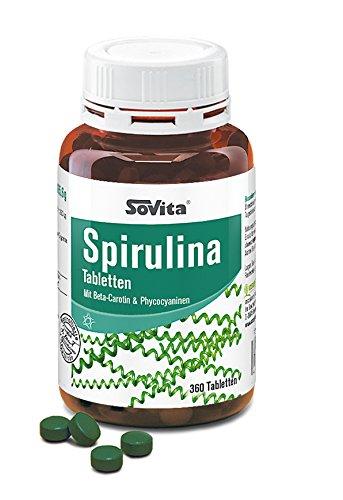Spirulina Tabletten | mit Beta-Carotin & Phycocyaninen | ascopharm | 360 Tabletten