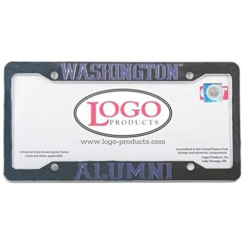 Washington Huskies Alumni Chrome Plastic License Plate Frame by Logo Products