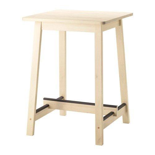 Ikea NORRAKER Bartisch aus massiver Birke; stapelbar; (74x74cm)