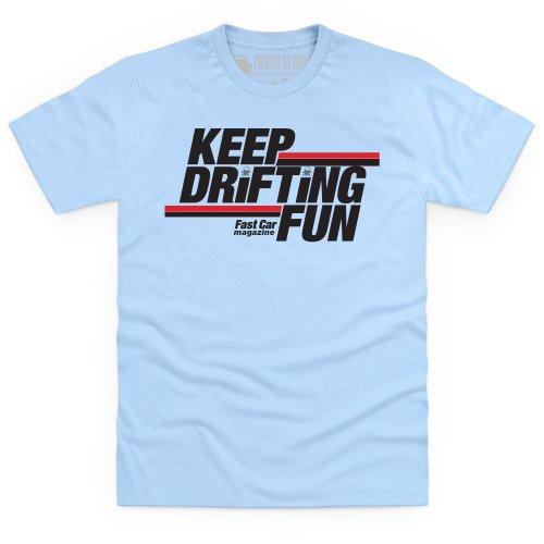 Keep Drifting Fun T-Shirt, Herren Himmelblau
