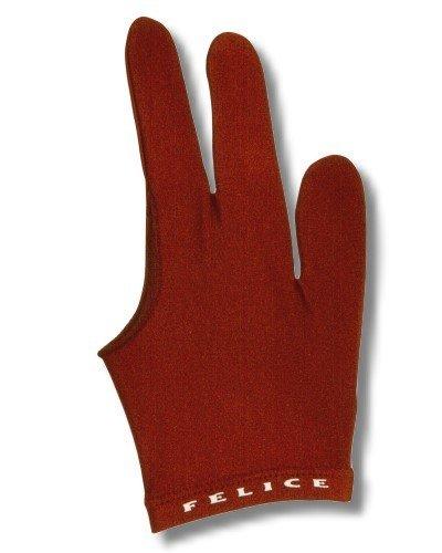 """Billard-Handschuh, FELICE """"DUNKELROT"""", für rechte und linke Hand, einer der beliebtesten Profihandschuhe aus den USA"""