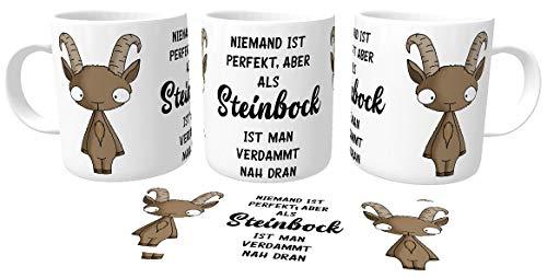 Kilala Geburtstagstasse Sternzeichen Horoskop Spruch Geburtstagsgeschenk lustiges Geschenk Becher Tee Tasse (23.12-20.01 Steinbock)