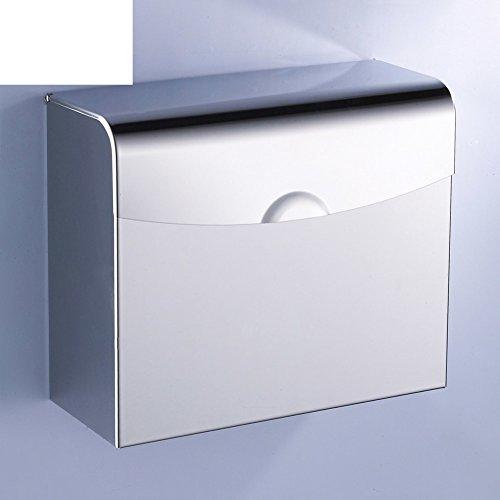 Edelstahl-Gewebe-Boxen/Toilettenpapier-Box/Geschlossen wasserdichte Papierhandtuchhalter/Toilettenpapierhalter/Dichtes Gras Quadratschale/Handschale