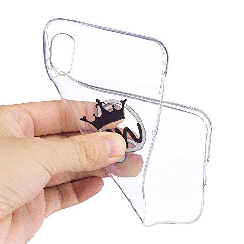 Apple X Hülle, Voguecase Silikon Schutzhülle / Case / Cover / Hülle / TPU Gel Skin für Apple iPhone X(Bananenblätter) + Gratis Universal Eingabestift Queen