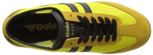 Gola Wasp, Baskets Basses homme Jaune - Jaune/noir