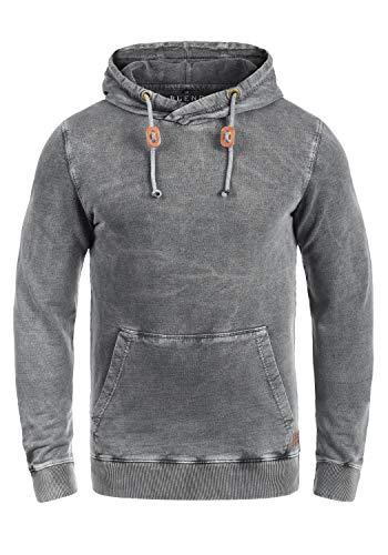 Blend Natsu Herren Kapuzenpullover Hoodie Pullover Mit Kapuze Und  Cross-Over-Kragen 100% Baumwolle, Größe XL, Farbe Ebony Grey (75111) aeae12725c