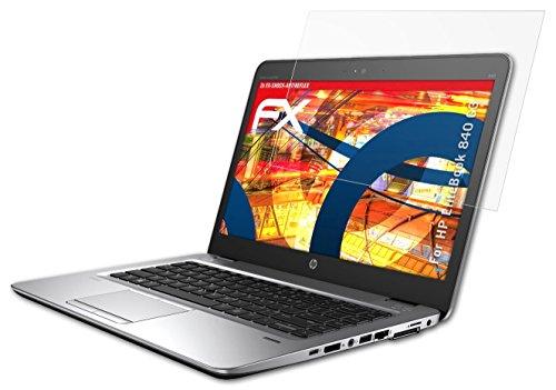 Preisvergleich Produktbild 2 x atFoliX Panzerschutzfolie HP EliteBook 840 G3 Panzerfolie - FX-Shock-Antireflex blendfrei und stoßabsorbierend