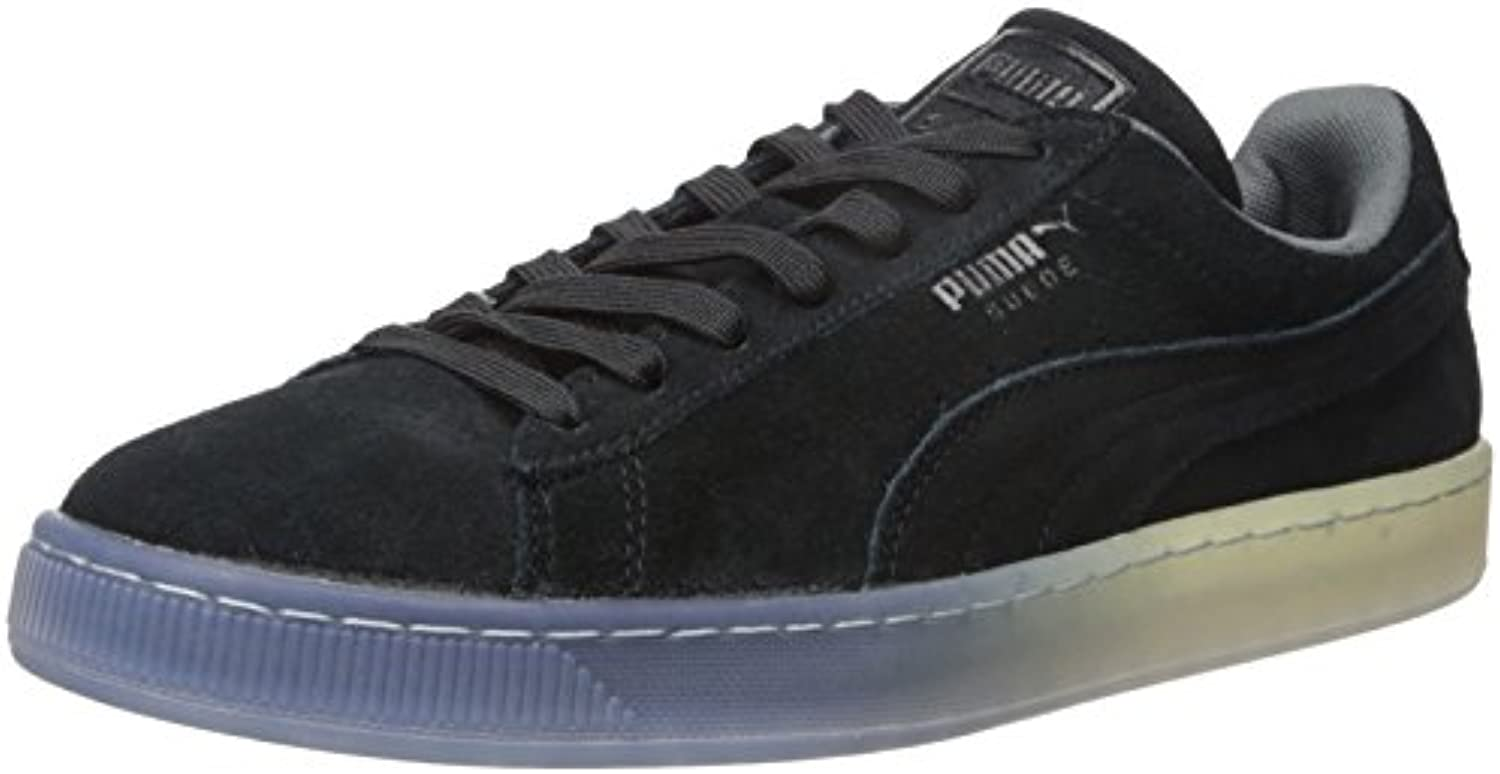 PUMA Men's Suede Classic Fade Future Fashion Sneaker  Black  5.5 M US