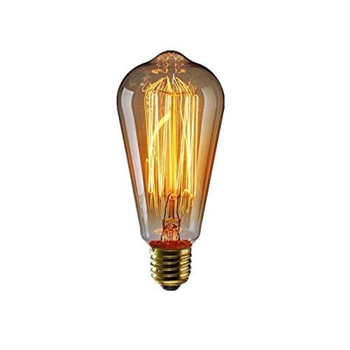ANKEY 1 Stück E27 ST64 60W Edison Lampe Vintage Stil Glühbirne Squirrel Cage Retro Lampe Antike Beleuchtung 220V für Hängelampe Wandleuchte Pendelleuchte