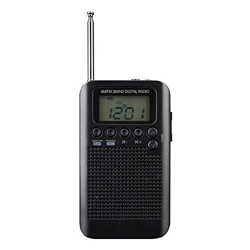 Songway Am/FM Pocket Radio Digital Relojes de Alarma Temporizador de sueño Altavoz...