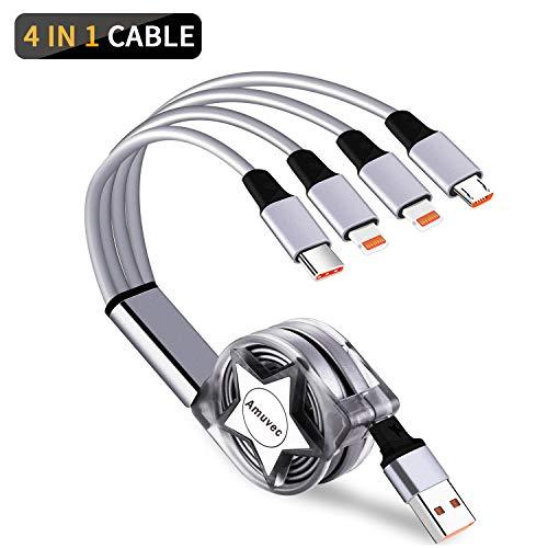 Amuvec Cable Multi USB 4 en 1