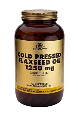 Solgar Cold Pressed Flaxseed Oil 1250 Mg Softgels, 100 from Solgar