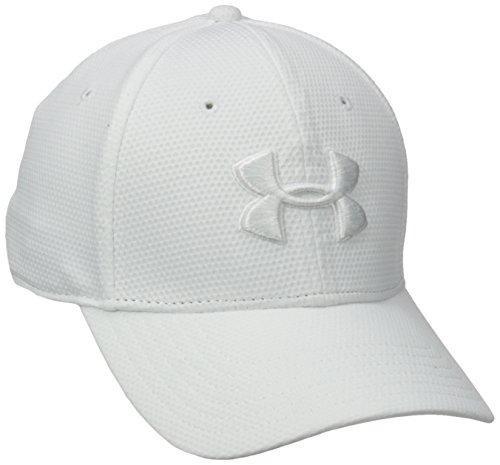 Under Armour Men's Blitzing II Stretch Fit Cap, White/White, Medium/Large