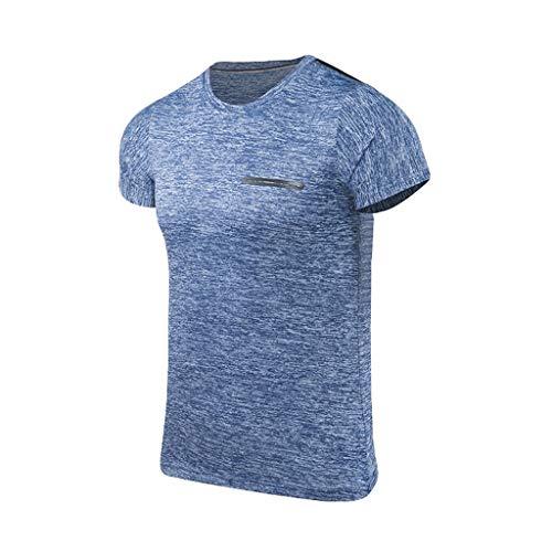 Herren Sommer Workout Fitness Sport Schnelltrocknend atmungsaktiv Top Bluse Unterhemd Männer Arbeit Gestreift Business Casual Comfort Fit Design Doppelkragen Elegant Extra Slim Fit Hemd