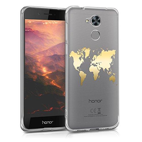 kwmobile Huawei Honor 6C Pro Hülle - Handyhülle für Huawei Honor 6C Pro - Handy Case in Gold Transparent