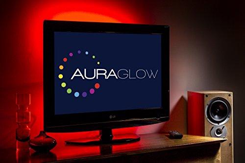 Auraglow kit strip led usb retroilluminazione tv cambia colore 50 cm