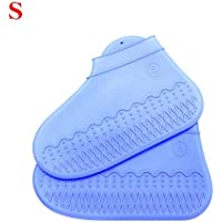 Smilikee 1Pair Step in Sock Reusable Shoe Cover One Step Hand Free Sock Durable Portable Automatic Shoe Covers Random Color