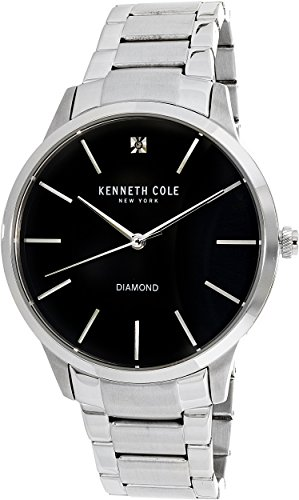 Kenneth Cole Men's Casual watch KC15111005 Black Stainless-Steel Quartz Fashion Watch