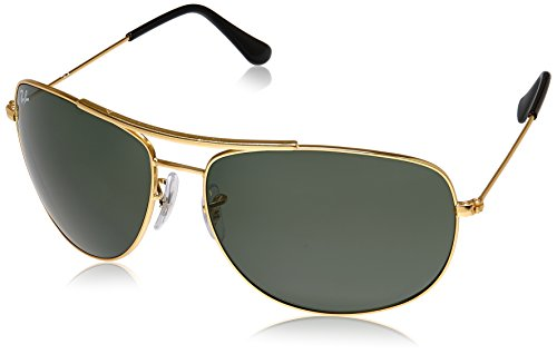 Ray-Ban UV Protected Aviator Men's Sunglasses - (0RB3412I00163|63|Crystal Green Color)